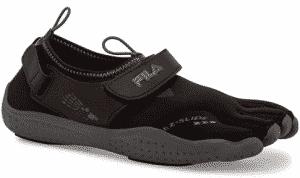 Fila Women's Skele-Toes EZ Slide Drainage Outdoor Sneakers, Black Textile, Synthetic, 5 M