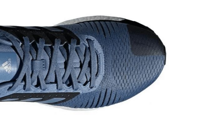 leather corner of adidas solar glide st