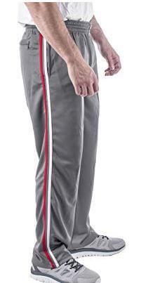 Vertical Sport Mesh Side Pockets Running Men's Track Pants